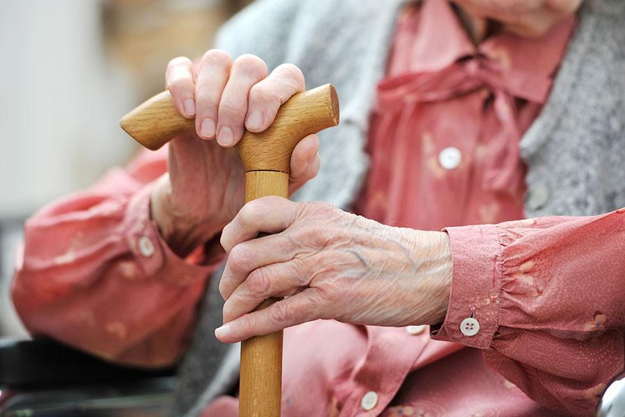 Elder receiving help in Virginia