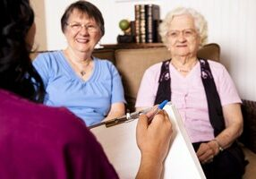 Senior Women getting Home Care
